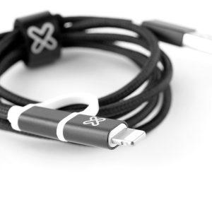 Cable 2 en 1 con conector Lightning, Black, Klip Xtreme
