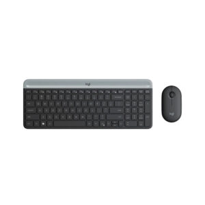 Teclado Logitech + Mouse MK470 Wireless Slim USB Black (920-009266)