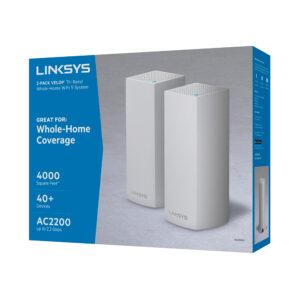 Sistema Velop Wi-Fi Intelligent Mesh tribanda de Linksys (AC4400, paquete de 2)