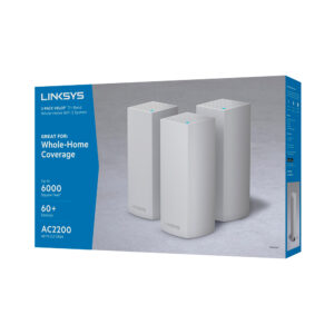Sistema Velop Wi-Fi Intelligent Mesh tribanda de Linksys (AC6600, paquete de 3)