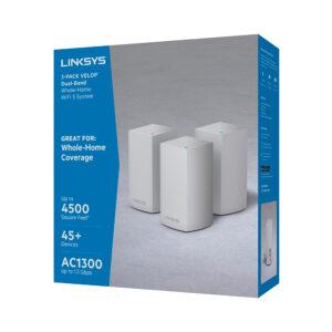 Sistema Velop WiFi Intelligent Mesh de doble banda de Linksys (AC3900, blanco, paquete de 3)