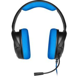 Audífono Gamer Corsair HS35, Micrófono Desmontable, 3.5mm, Negro/Azul (CA-9011196-NA)