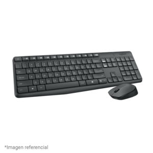 Kit Teclado + Mouse Logitech MK235 Wireless USB SP Black (920-007901)