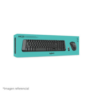 Kit Teclado + Mouse Logitech MK220 Wireless USB SP Black (920-004430)