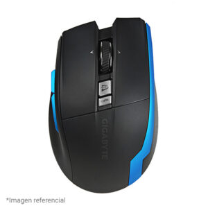 Mouse Gigabyte Aire M93 Ice, 1200/2000 DPI, Laser, USB / Wireless 2.4GHz, Negro (GM-AIRE M93 ICE)